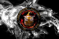 Флаг задымления городов Bridgewater, государство Массачусетса, Соединенные Штаты Америки иллюстрация вектора