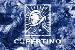 Флаг задымления городов Cupertino, положение Калифорнии, Соединенные Штаты Am иллюстрация вектора