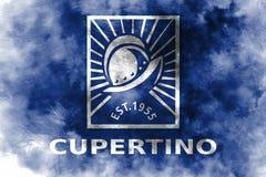 Флаг задымления городов Cupertino, положение Калифорнии, Соединенные Штаты Am иллюстрация штока