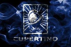Флаг задымления городов Cupertino, положение Калифорнии, Соединенные Штаты Am бесплатная иллюстрация