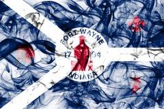 Флаг задымления городов Fort Wayne, положение Индианы, Соединенные Штаты Америки Стоковые Фотографии RF