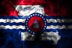 Флаг задымления городов Jefferson City, положение Миссури, Соединенные Штаты  иллюстрация вектора