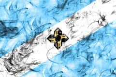 Флаг задымления городов Madison, положение Висконсина, Соединенные Штаты Ameri Стоковое Фото