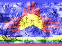 Флаг задымления городов Roswell, положение Неш-Мексико, Соединенные Штаты Америки иллюстрация штока
