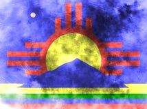 Флаг задымления городов Roswell, положение Неш-Мексико, Соединенные Штаты Amer иллюстрация вектора