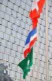 флаг здания предпосылки morden соотечественник Стоковые Изображения