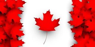 Флаг идеи проекта Канады Стоковое Изображение RF