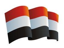 флаг Иемен иллюстрация вектора