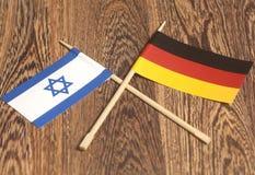 Флаг Израиля конца Германии Стоковые Изображения