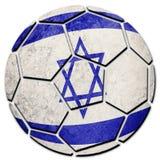 Флаг Израиля футбольного мяча национальный Шарик футбола Израиля Стоковые Фото