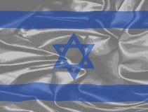 Флаг Израиля Silk Стоковая Фотография RF