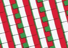 Флаг или знамя ИТАЛИИ Grunge Стоковое Изображение RF
