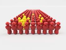 флаг иллюстрации 3D Китая Стоковое Изображение