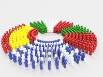 флаг иллюстрации 3D стран СВИНЕЙ Стоковое Фото