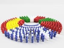 флаг иллюстрации 3D фронта Греции СВИНЕЙ Стоковая Фотография
