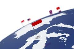 Флаг Индонезии Стоковое Фото