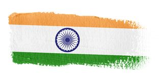 флаг Индия brushstroke Стоковые Изображения RF