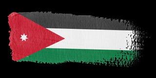 флаг Иордан brushstroke Стоковая Фотография