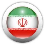 флаг Иран кнопки aqua Стоковое Фото