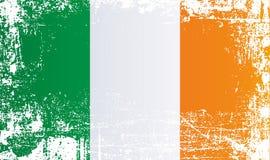 Флаг Ирландии Сморщенные грязные пятна иллюстрация вектора