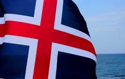 флаг Исландия Стоковые Изображения
