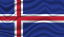 флаг Исландия Стоковое Изображение