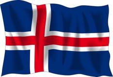 флаг Исландия Стоковая Фотография