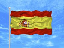 Флаг Испании   Стоковые Фотографии RF