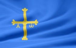 флаг Испания Астурии иллюстрация вектора