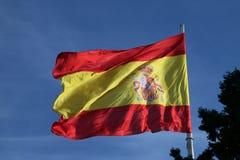 флаг Испания Испанский патриотизм в Мадриде, Испании стоковые фото
