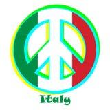 Флаг Италии как знак пацифизма иллюстрация вектора