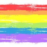 Флаг и символ гомосексуалиста иллюстрация вектора