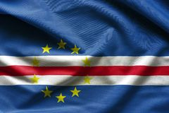 Флаг Кабо-Верде развевая Стоковые Изображения RF