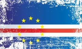 Флаг Кабо-Верде Сморщенные грязные пятна бесплатная иллюстрация