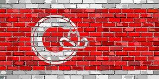 Флаг Калгари на кирпичной стене Стоковое Изображение RF