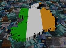 Флаг карты Ирландии на иллюстрации евро бесплатная иллюстрация