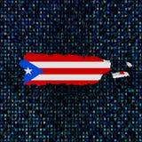 Флаг карты Пуэрто-Рико на иллюстрации кода наговора иллюстрация штока