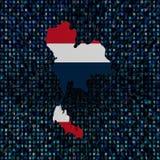 Флаг карты Таиланда на иллюстрации кода наговора Стоковое Фото