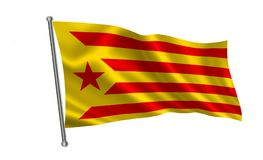 Флаг Каталонии Стоковое фото RF