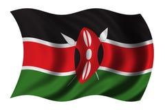 флаг Кения Стоковые Фото