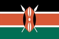 флаг Кения Стоковое Изображение