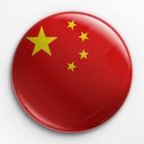 флаг китайца значка Стоковые Изображения RF