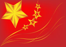 Флаг Китай. Стоковое фото RF