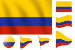 Флаг Колумбии Реалистический флаг иллюстрации вектора Национальное Symb Стоковое Изображение