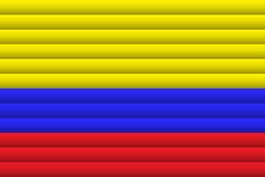 Флаг Колумбии также вектор иллюстрации притяжки corel иллюстрация вектора