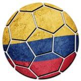 Флаг Колумбии футбольного мяча национальный Колумбийский шарик футбола Стоковые Изображения RF