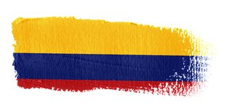 флаг Колумбии brushstroke Стоковое Изображение RF