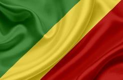 Флаг Конго развевая иллюстрация штока