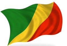 Флаг Конго иллюстрация вектора