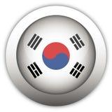 флаг Корея кнопки aqua южная Стоковые Фотографии RF